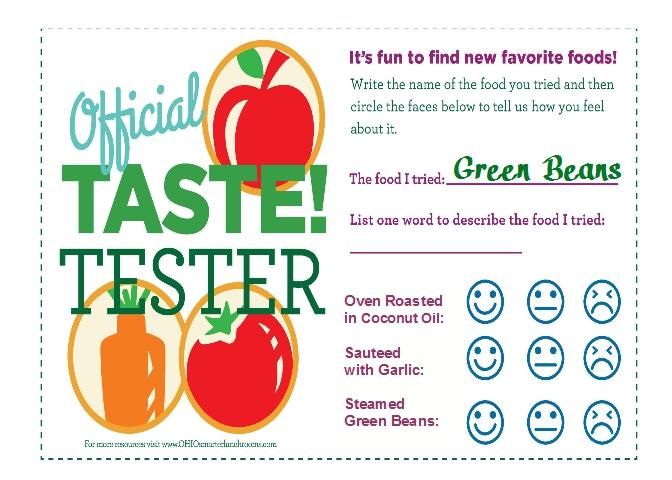 green bean taste test card single jpeg