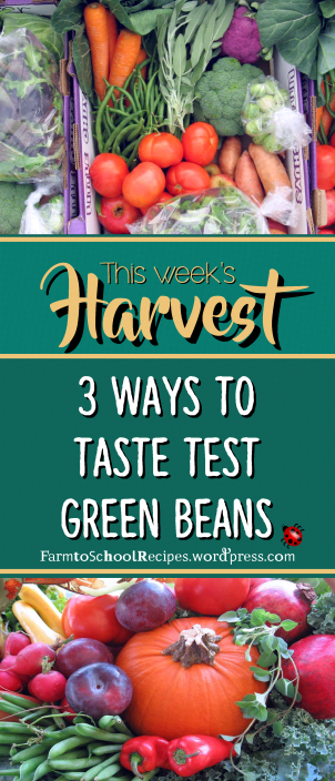 recipe of the week logo green beans