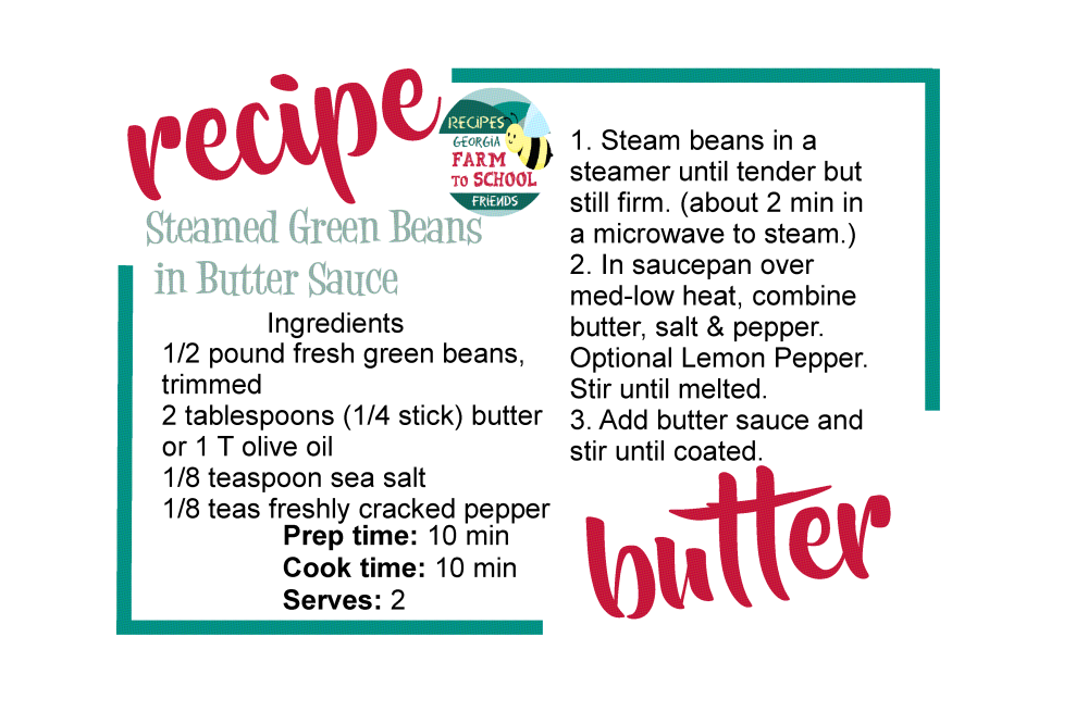 single recipe card green beans1