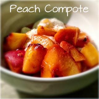 peach compote with yogurt