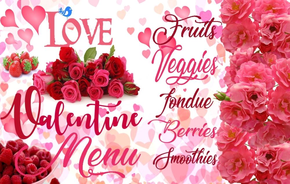 BLUEBIRD VALENTINE menu