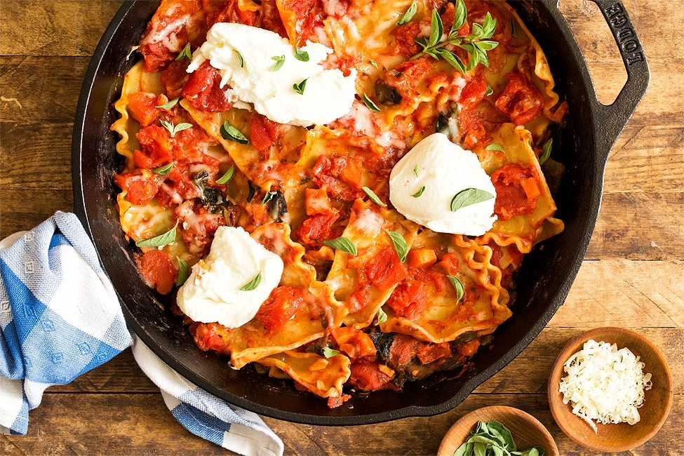 One-Pan-Vegetable-Skillet-Lasagna-photo-9155