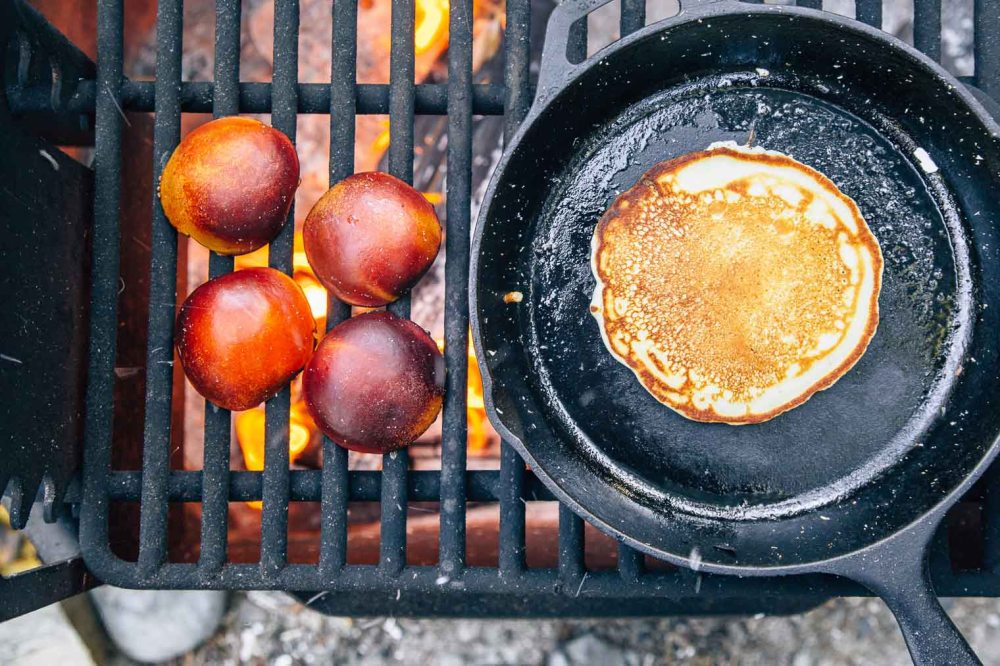 Pancakes-with-Campfire-Grilled-Nectarines-and-Pecans-13
