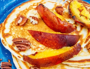 Pancakes-with-Campfire-Grilled-Nectarines-and-Pecans-8