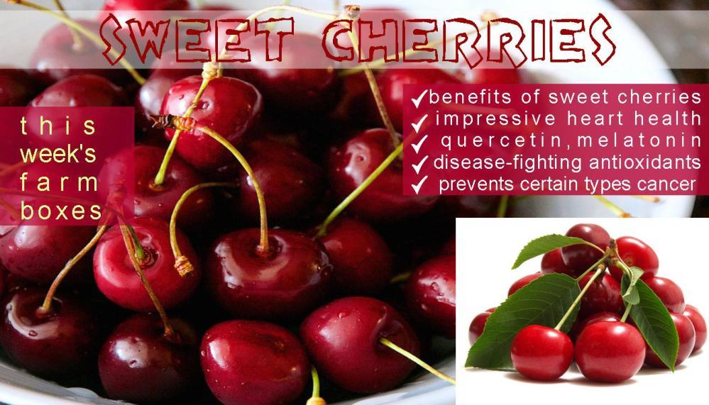 SWEET CHERRIES benefits