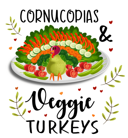 cornucopias and veggie centerpieces