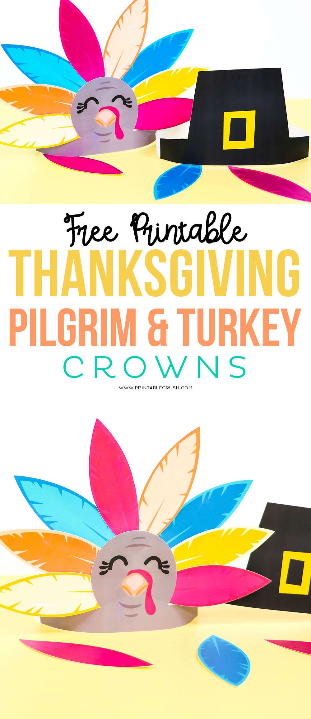 Free-Printable-Thanksgiving-Pilgrim-and-Turkey-Crowns