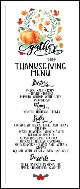 thanksgiving menu place card final