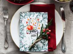 thanksgiving menu place card mockup